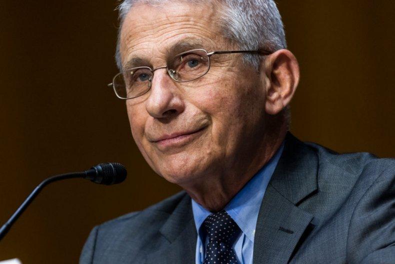 Dr. Anthony Fauci at a Senate hearing