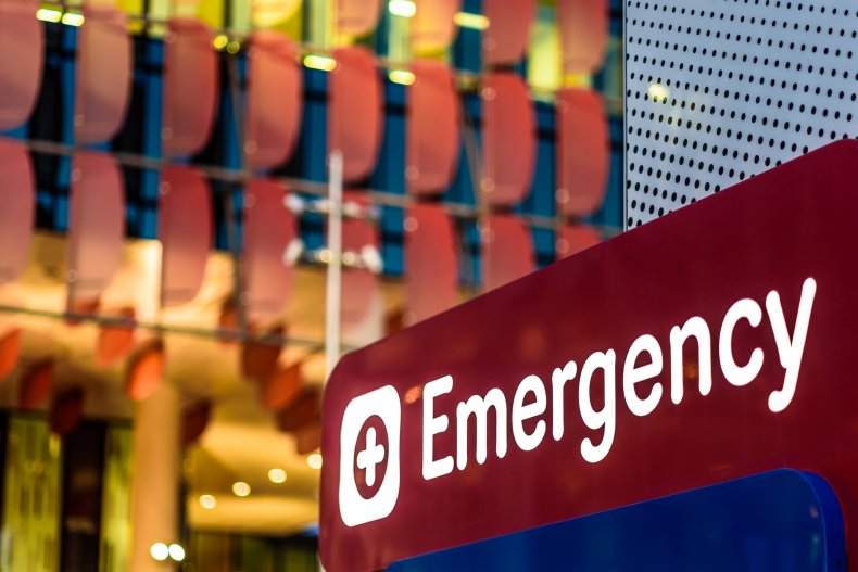 """An """"Emergency"""" Sign at a hospital"""