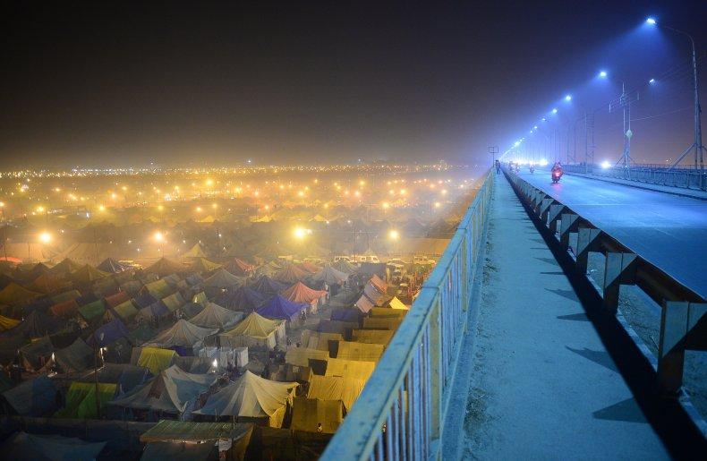 Tents at Sangam in Allahabad, India.
