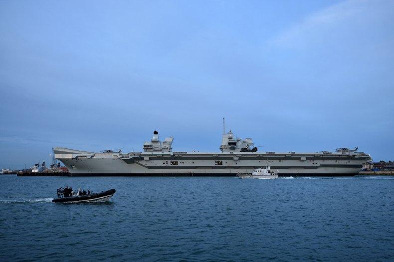 The Royal Navy's HMS Queen Elizabeth ship.