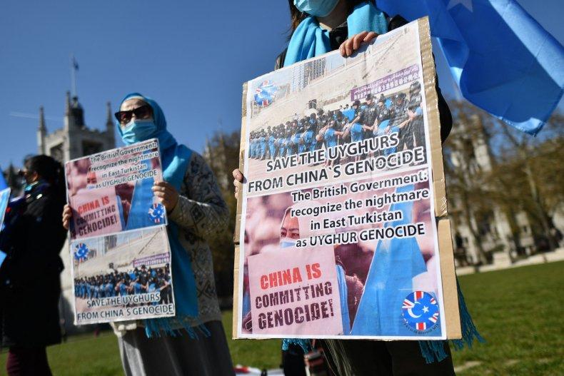 Uyghurs Protest