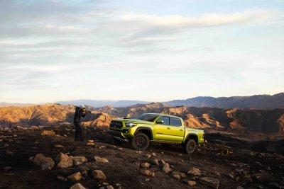 2022 Toyota Tacoma TRD Pro rock crawling