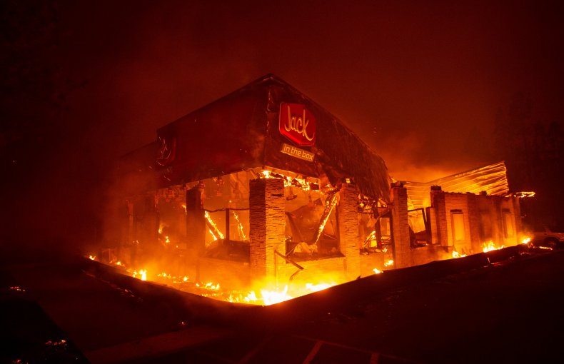 Jack in the Box on Fire