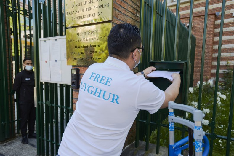 Free Uyghur Petition Dutch Chinese Embassy