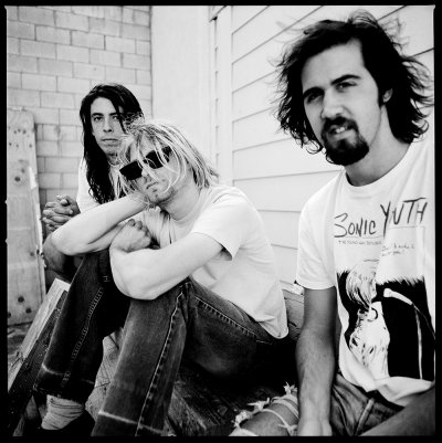 Nirvana photographed by Chris Cuffaro