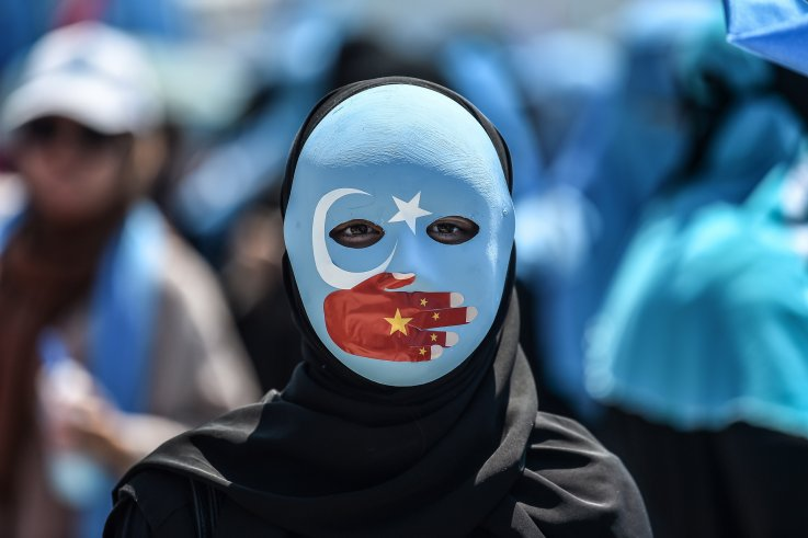 Uyghur protest in Istanbul