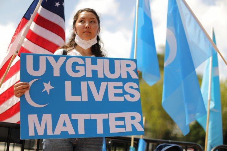 Uyghur protest in Washington, D.C.