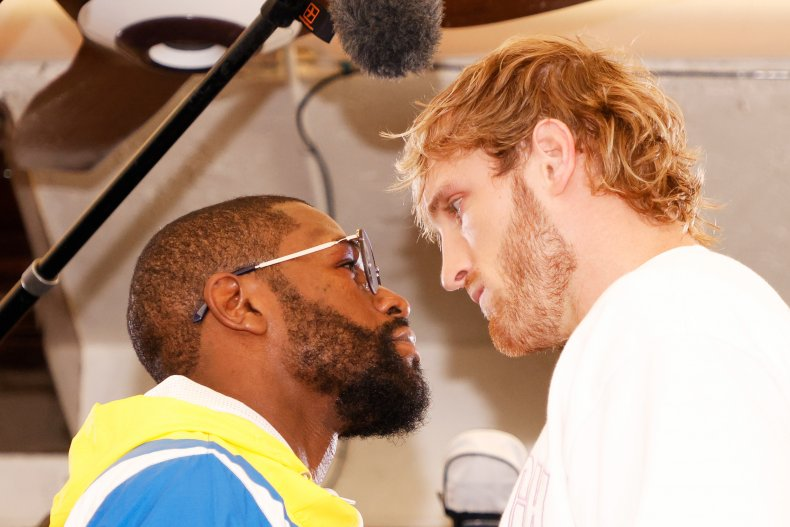 Floyd Mayweather Faces Off With Logan Paul