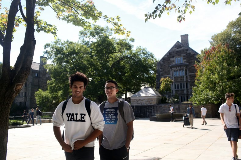 Students Pictured on the Yale Campus