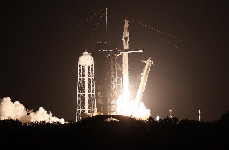 SpaceX Falcon 9 rocket lift-off