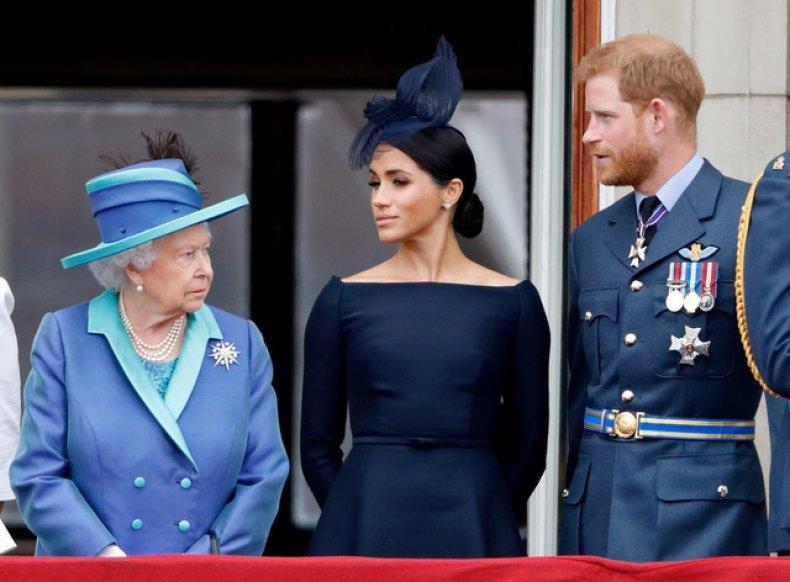 Queen Elizabeth II, Meghan and Prince Harry