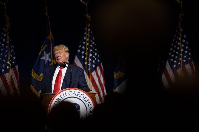 Trump has been accused of wearing backwards pants.