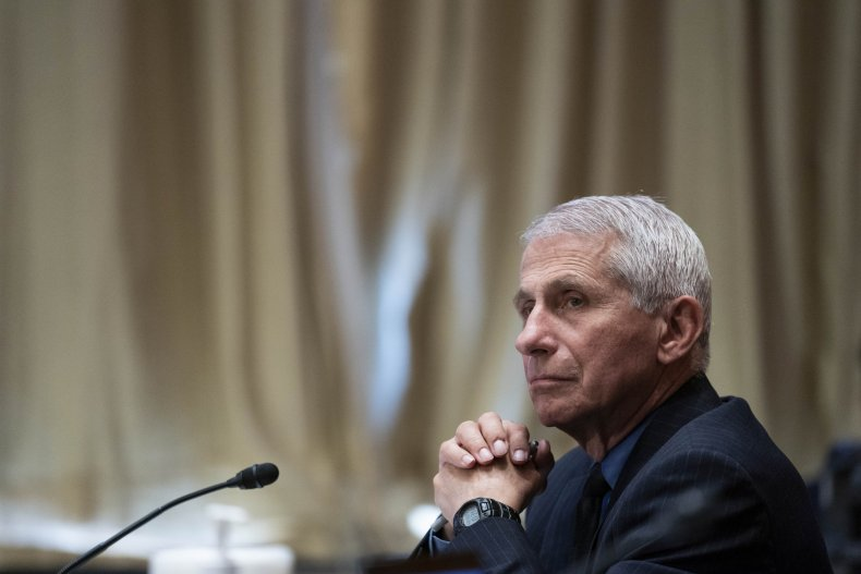 Anthony Fauci attends a Senate hearing