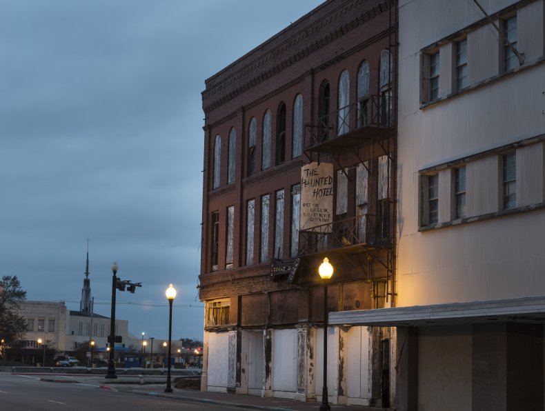 The Haunted Hotel in Beaumont, Texas.