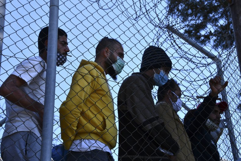 Migrants in a Refugee Camp in Greece