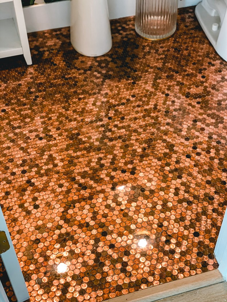 An after photo of Jordan Darian's bathroom
