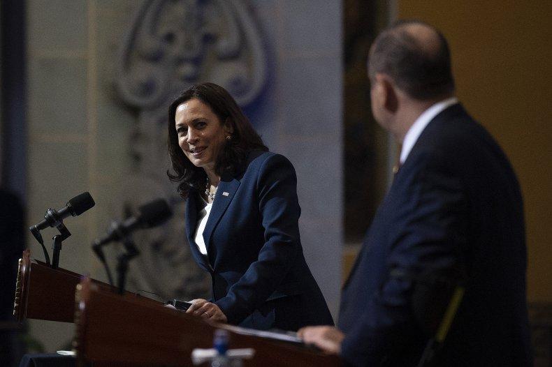 Kamala Harris talks immigration in Gautemala