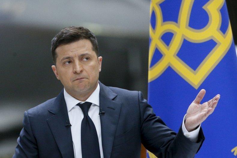 Ukrainian President Zelenskyy During a News Conference