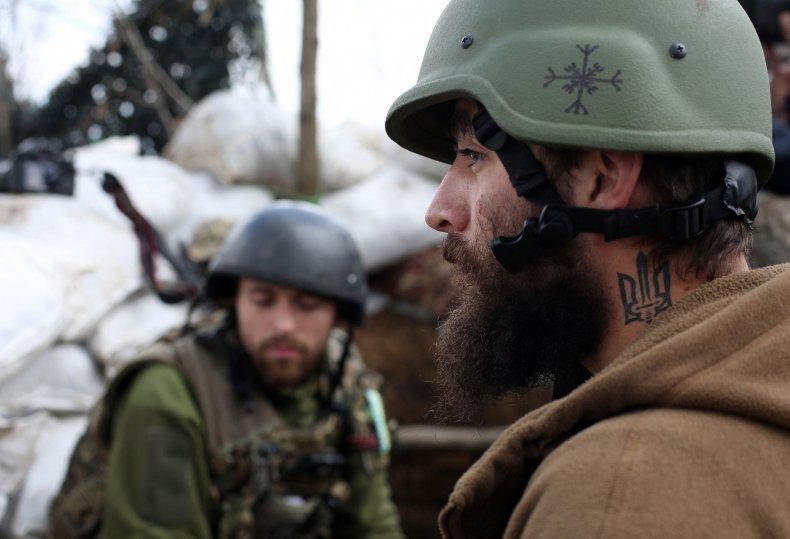Ukraine, soldiers, near, frontline, border, Russia