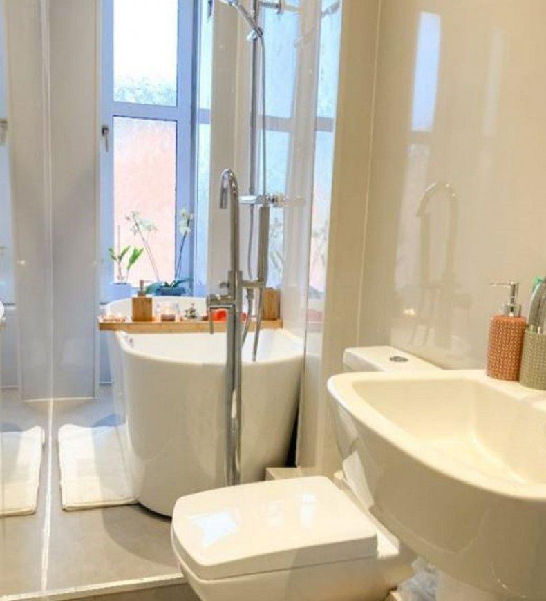 Amber Milne's bathroom after renovation