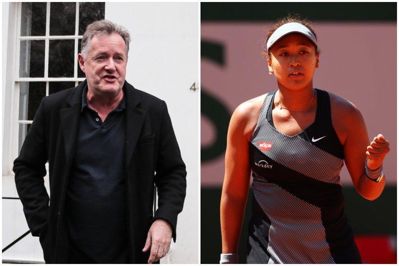 Piers Morgan took aim at Naomi Osaka