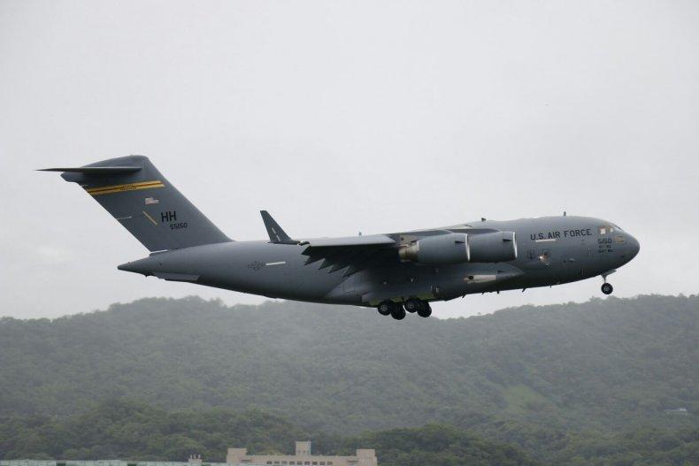 U.S. Air Force Flies Senators to Taiwan