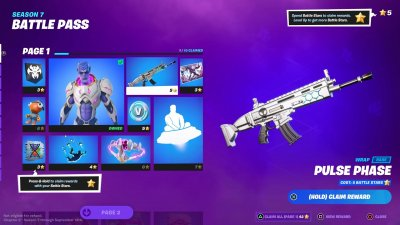 The First Page of Fortnites Battle Pass