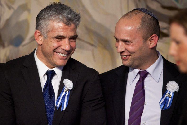 Yair Lapid and Benjamin Netanyahu Israel coalition
