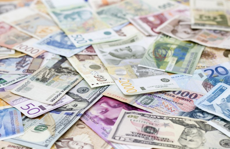 Stock image of various currencies