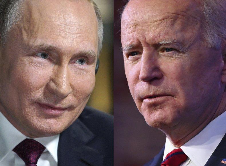 Vladimir, Putin, and, Joe, Biden, combo, photo