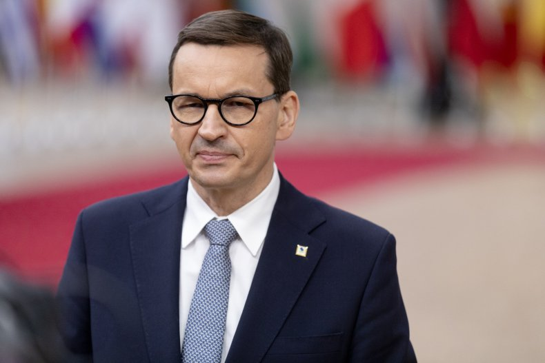 Mateusz Morawiecki Polish PM pictured in Brussels