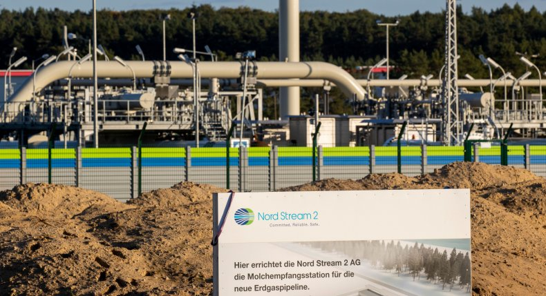 Nord Stream 2 facility in Germany