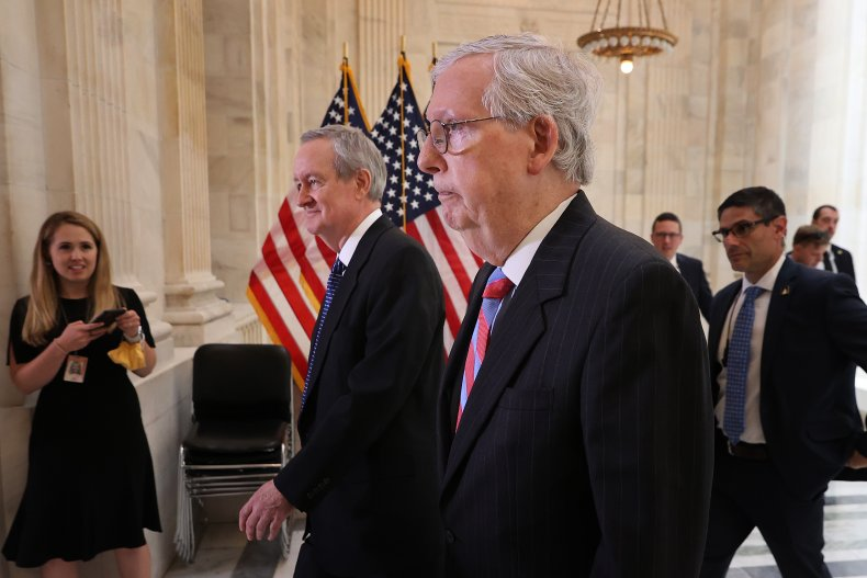 Mitch McConnel with Mike Crapo