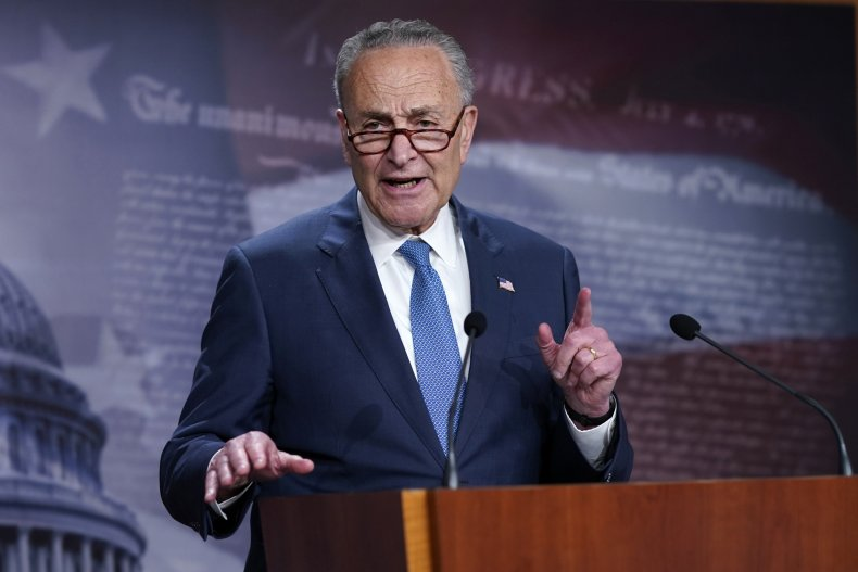 Check Schumer Speaks at Capitol
