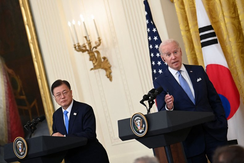 Joe, Biden, and, Moon, Jae, in, summit