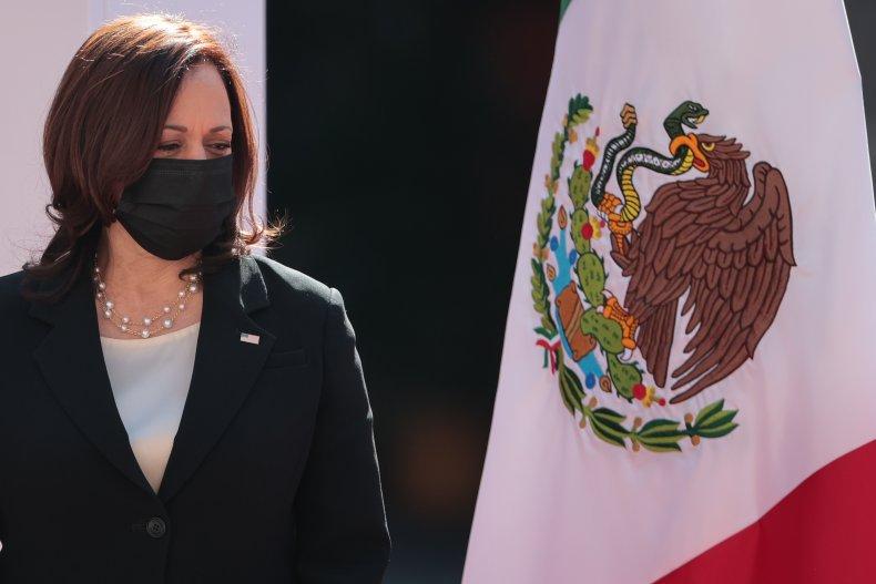 Kamala Harris Migrants Mexico Border Criticism Immigration