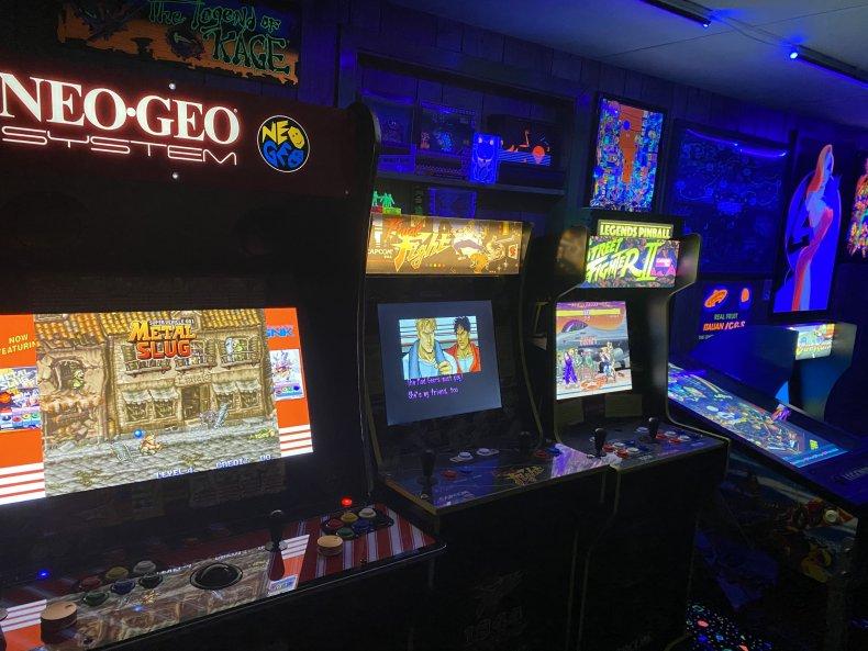 Arcade built in a basement