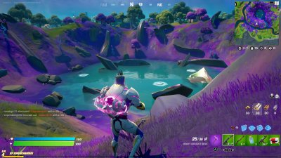 A Giant Crater in Fortnite Season 7