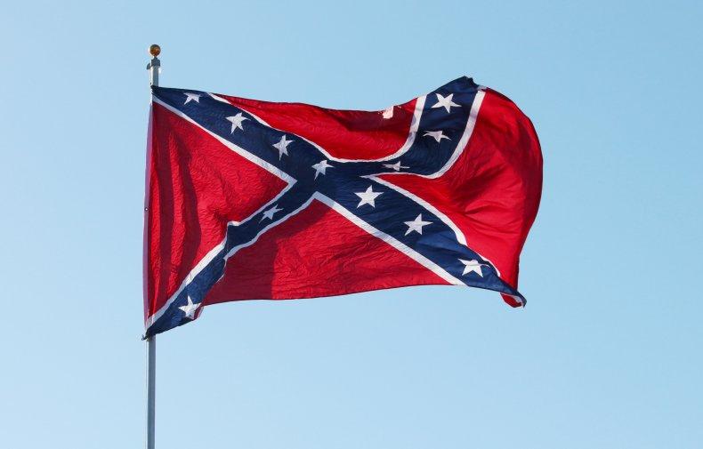 Confederate flag in the wind