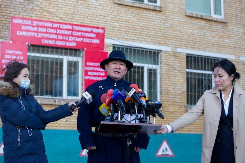 Mongolia's President Battulga Khaltmaa