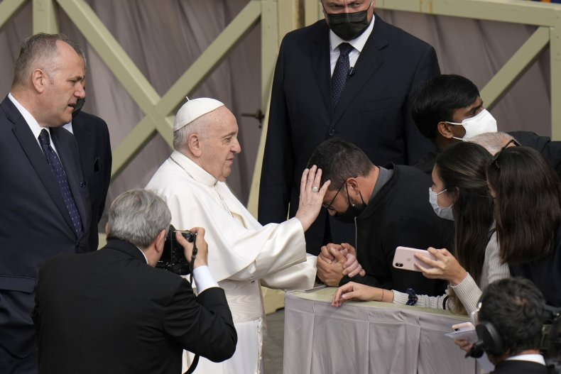 Pope Francis Blesses Attendee