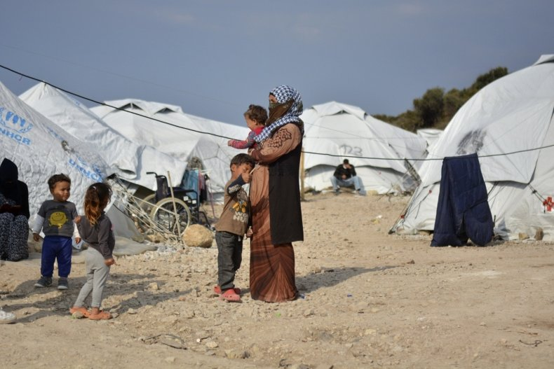 Karatepe Refugee Camp in Lesbos, Greece