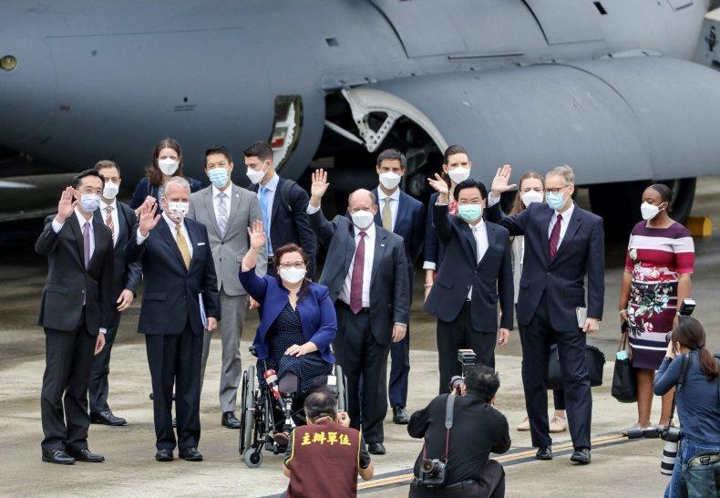 U.S. Senators Visit Taiwan Airport