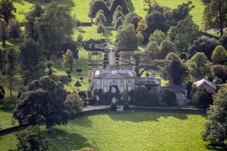 Aerial View of Prince Charles' Highgrove Home