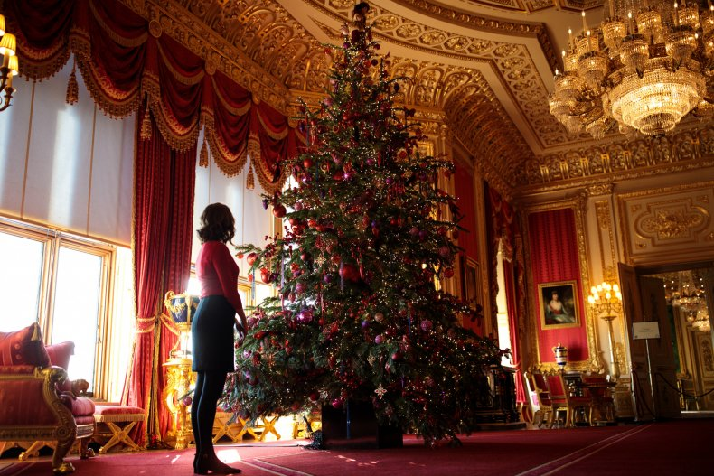 Windsor Castle Decorated for Christmas