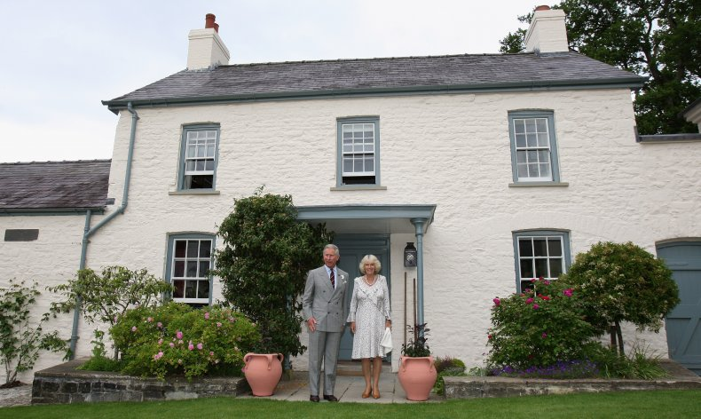 Prince Charles and Camilla in Wales