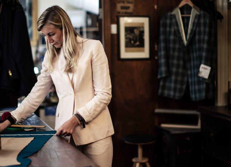 Caroline Andrew in her Mayfair store