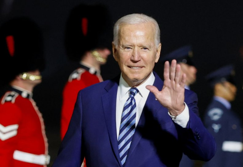 President Joe Biden in Cornwall, England