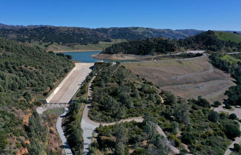 California's Anderson Reservoir seen in 2020.