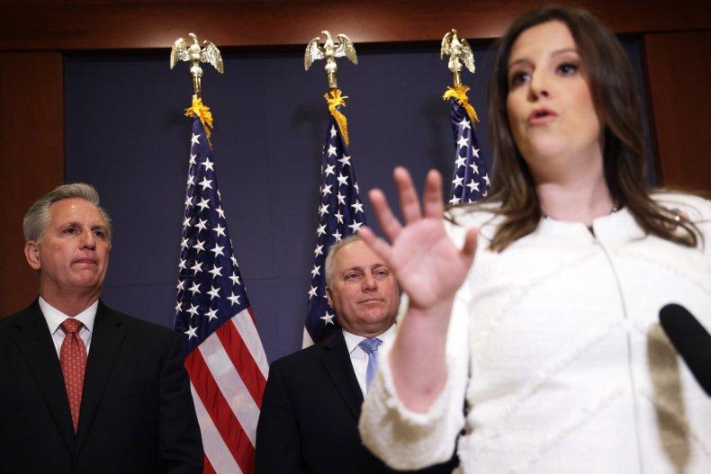 Representative Elise Stefanik Speaks to the Press